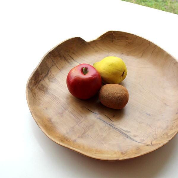 チークボウル 皿 プレート チーク材 天然木 木製 無垢材 自然素材 チークのナチュラルボウル L [ras4962]