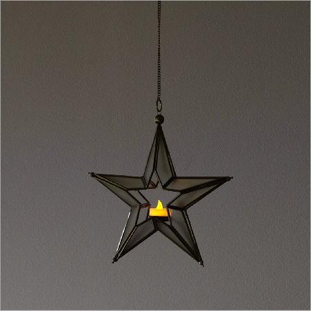 LED付き吊り下げキャンドルホルダー スターA