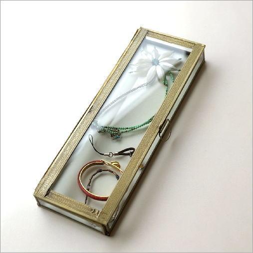 真鍮とガラスのレクタングルケース
