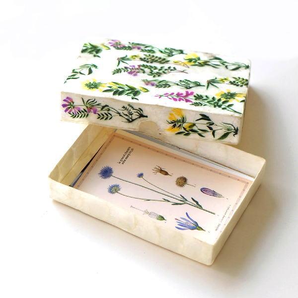 カードボックス おしゃれ カードケース かわいい ポストカード レター 収納 インテリア カピス 雑貨 カピスフラワーガーデン カードBOX [ras7507]