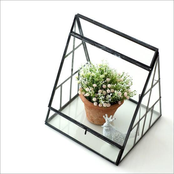 テラリウム ガラス おしゃれ 多肉植物 器 入れ物 容器 温室 ケージ ケース 屋根 ドーム インテリア アイアンとガラスのテラリウム