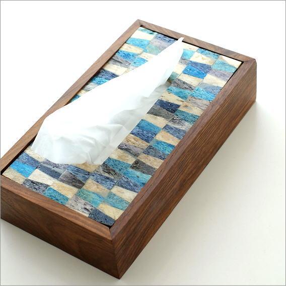 ティッシュケース おしゃれ モダン インテリア 木製 ティッシュボックス ティッシュカバー ボーンとウッドのティッシュケース C