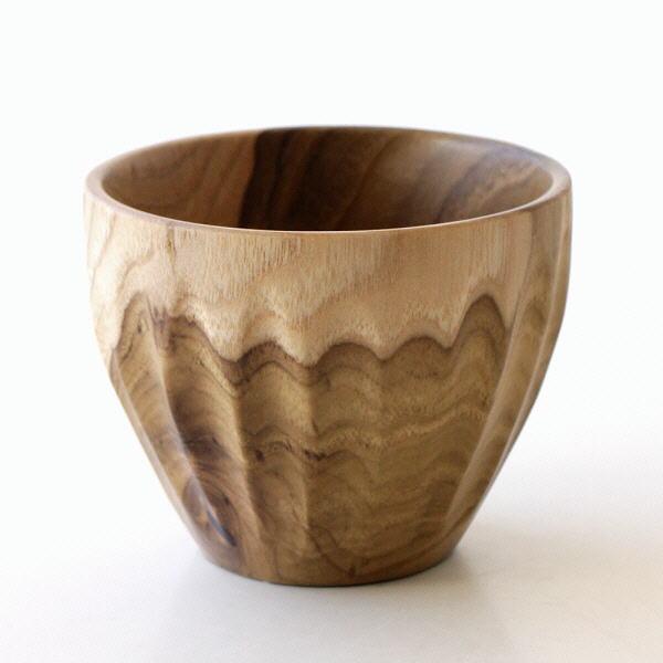 湯呑み フリーカップ 木製 チーク材 コップ 天然木 おしゃれ 木目 ナチュラル チークウッドのティーカップ [ras7987]