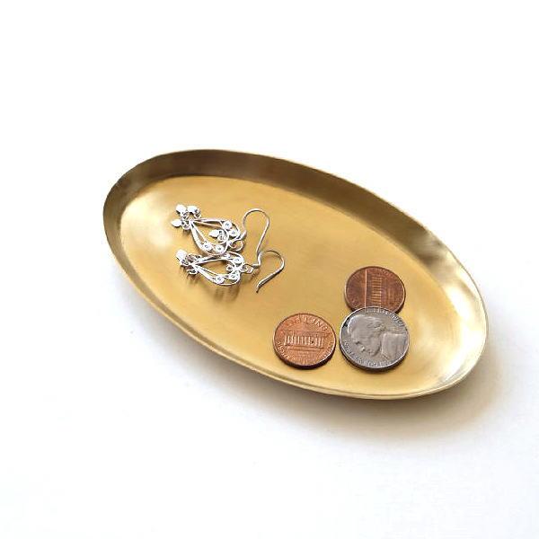 トレー ゴールド 真鍮 アンティーク インテリア 小物入れ アクセサリートレイ キートレイ コイントレー ブラスオーバルトレイ [ras8423]