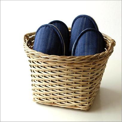 かご カゴ バスケット 収納 雑貨 編み籠 ラタンラウンド手つきバスケット [ras9462]