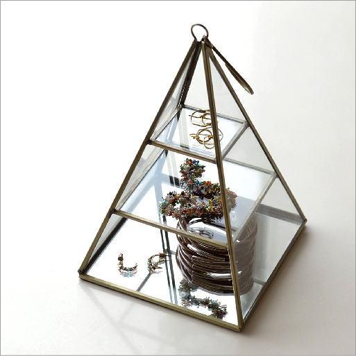 真鍮とガラスのトライアングルケース