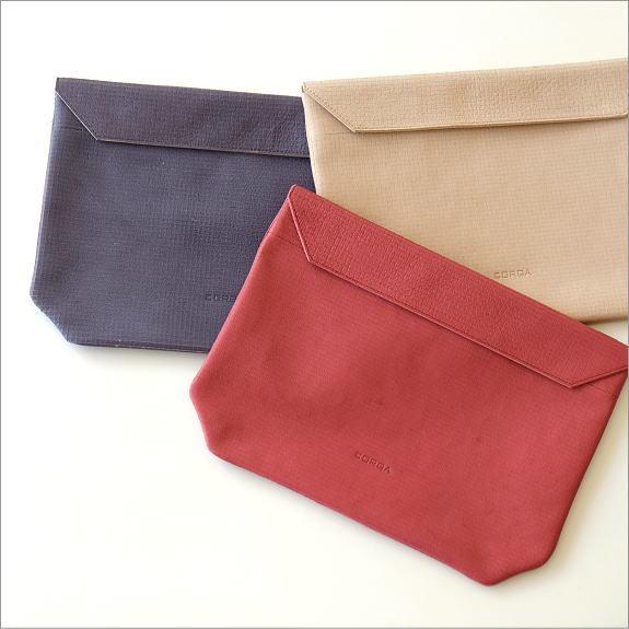 マグネット付き革のポーチバッグ 3カラー