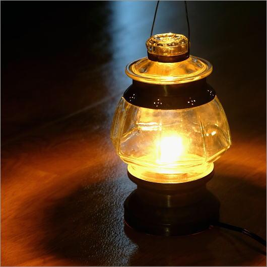 テーブルランプ ガラス 真鍮 ランタン アンティーク 照明 卓上スタンド ランプスタンド 照明スタンド 間接照明 カンテラランプ