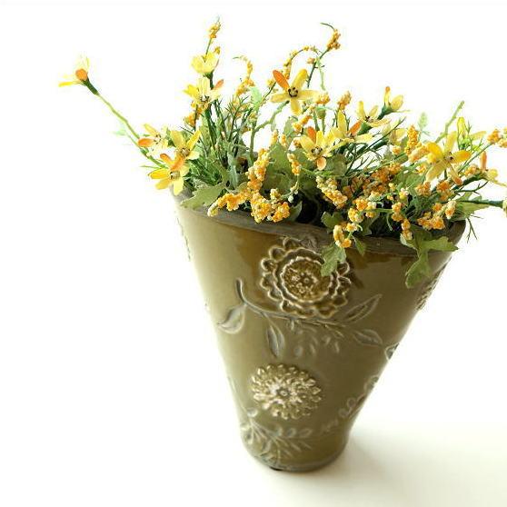 陶器のミニベース フローラ
