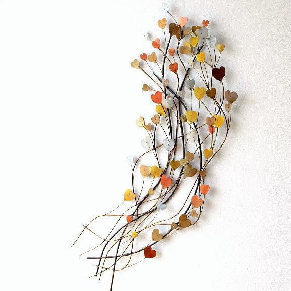 壁掛けインテリア ウォールデコレーション アイアンの壁飾り ハートリーフ【送料無料】