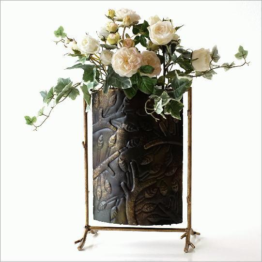 フラワーベース 花瓶 ガラス アイアン おしゃれ デザイン アンティーク モダン 試験管 花器 ガラスベース 花入れ ブランシュスウィングベース
