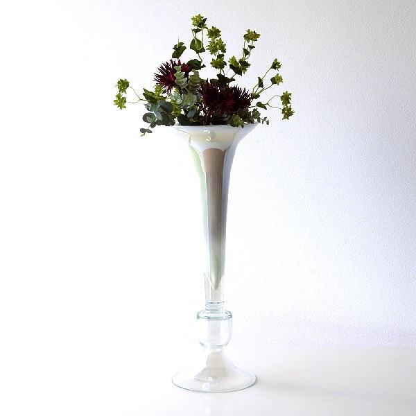 フラワーベース ガラス 花瓶 おしゃれ モダン 大きい ガラスのトールベース A [sik4468]