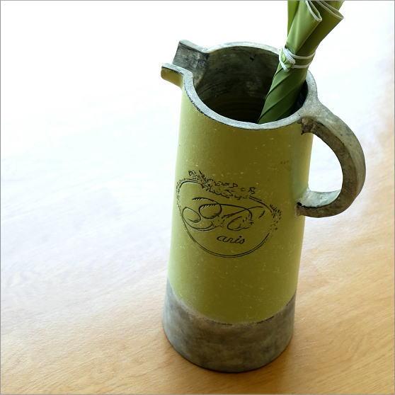 傘立て 傘たて 傘立 陶器 おしゃれ アンティーク カフェ かわいい スリム クラシック 持ち手 コンパクト 洋風 省スペース 玄関 陶器の傘たて アップルグリーン