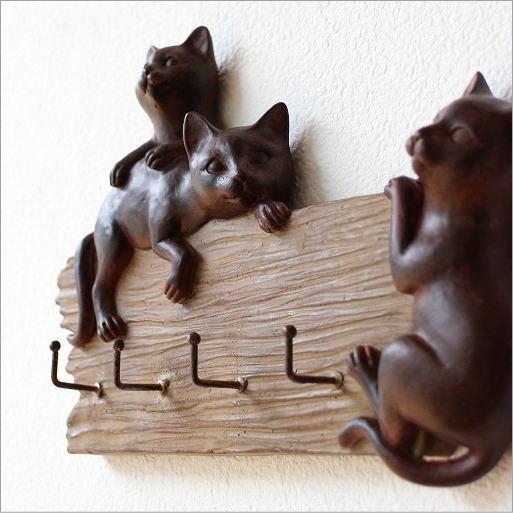 フック 壁掛けフック ねこ ネコ 雑貨 キーフック 鍵かけ かわいい ワンパク子猫のフック