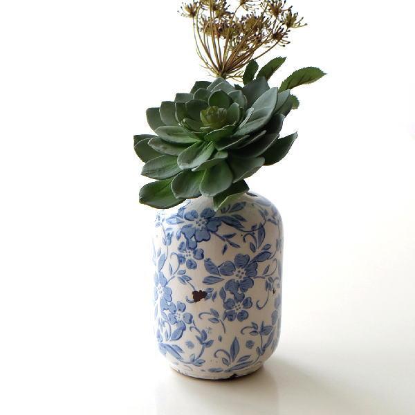 花瓶 フラワーベース 陶器 おしゃれ シノワズリー レトロ 雑貨 花器 シノワオリエンタルベース [sik6837]