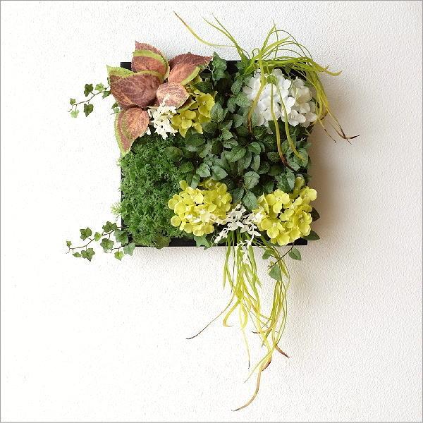 壁飾り 人工観葉植物 壁掛けインテリア ディスプレイ フェイクグリーン 光触媒 壁面 オーナメント パネル ウォールデコレーショングリーン D [sik7108]