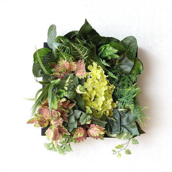 壁飾り 人工観葉植物 壁掛けインテリア ディスプレイ フェイクグリーン 光触媒 壁面 オーナメント パネル ウォールデコレーショングリーン F [sik7112]
