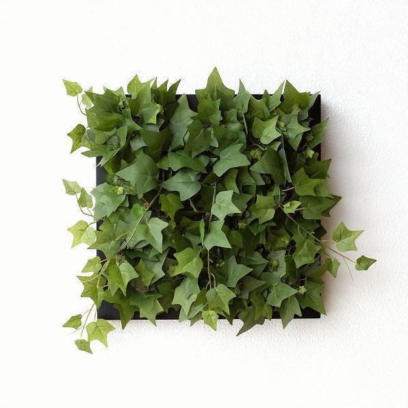 壁飾り 人工観葉植物 壁掛けインテリア ディスプレイ リビング 光触媒 壁面 オーナメント パネル ウォールデコレーショングリーン A [sik7130]