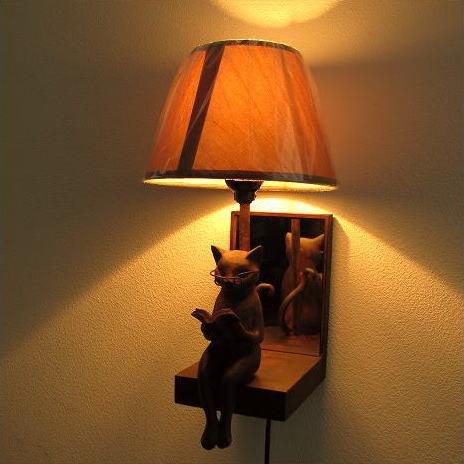 照明 壁掛け ライト シェードランプ 雑貨 壁掛けネコランプ [sik9127]