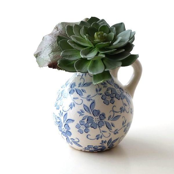 花瓶 シノワズリ 陶器 おしゃれ フラワーベース 花器 シノワオリエンタルボトル [sik9746]
