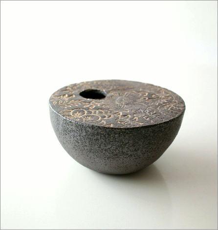 花瓶 陶器 花器 一輪挿し フラワーベース 花入れ 和雑貨 和風 信楽焼 和陶器ベース コロン [soh1951]