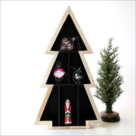 クリスマス 飾り棚 ディスプレイラック コレクション棚 ツリーディスプレイ