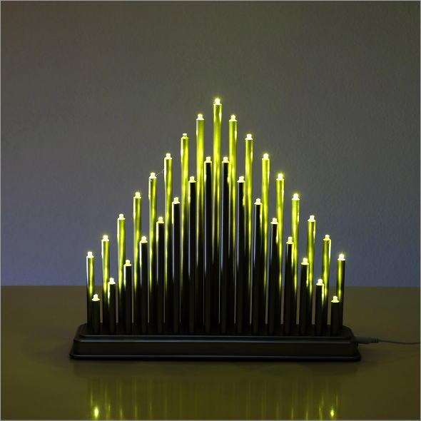 クリスマス 吊り下げ 飾り ライト LED&MUSIC BOX TREE 3カラー電池付