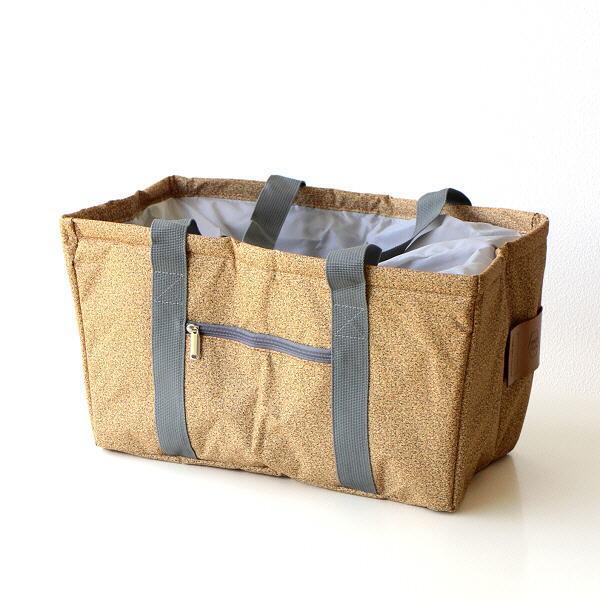 クーラーバッグ 保冷バッグ クーラーバスケット 折りたたみ 巾着 ショルダー おしゃれ お弁当 キャンプ ピクニック クーラーショッピングバッグ コルク柄 [spc0801]