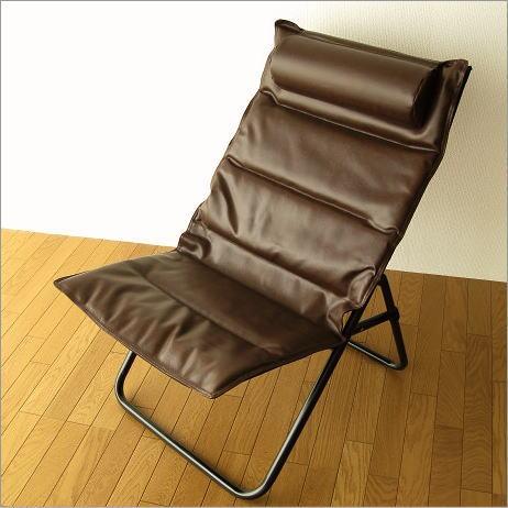 折りたたみ椅子 クッションチェアー アイアンとレザー折りたたみ椅子【送料無料】