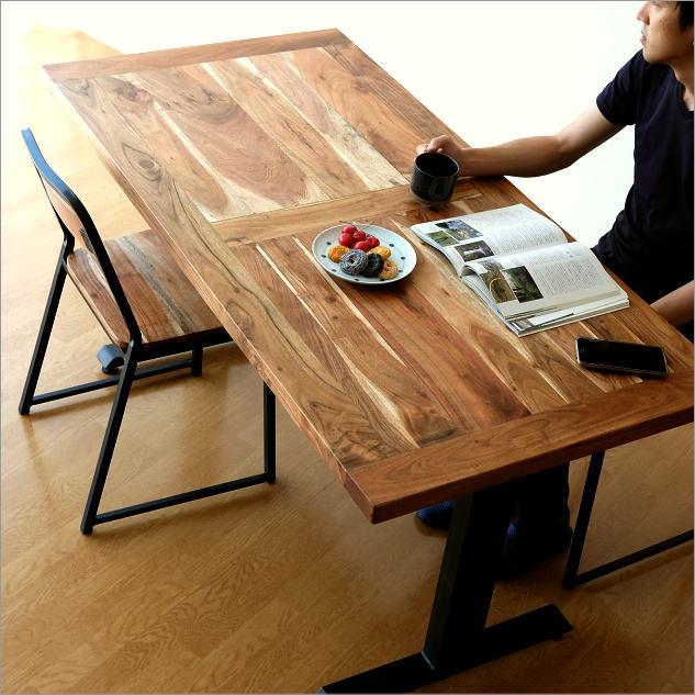 アイアンとウッドのダイニングテーブル【開梱組立設置送料無料】