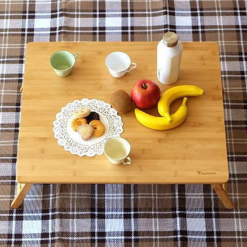 折りたたみテーブル 竹製 バンブー コンパクトテーブル おしゃれ ローテーブル ミニテーブル ピクニック キャンプ シンプル 折り畳みバンブーテーブル L