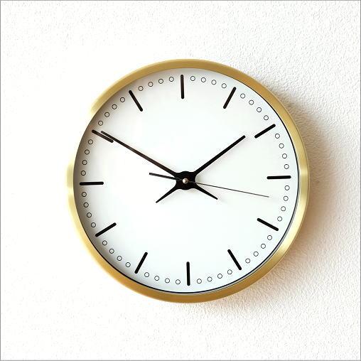 掛け時計 シンプル おしゃれ スイープムーブメント 音がしない 連続秒針 静音 寝室 玄関 ウォールクロック シンプルゴールド