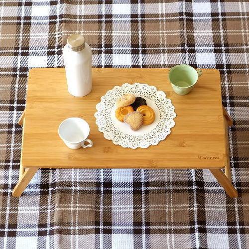 折りたたみテーブル バンブー 竹製 おしゃれ ローテーブル コンパクトテーブル ミニテーブル キャンプ ピクニック アウトドア 折り畳みバンブーテーブル S [spc2385]