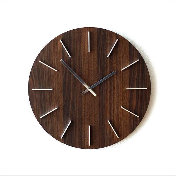 壁掛時計ブラウン