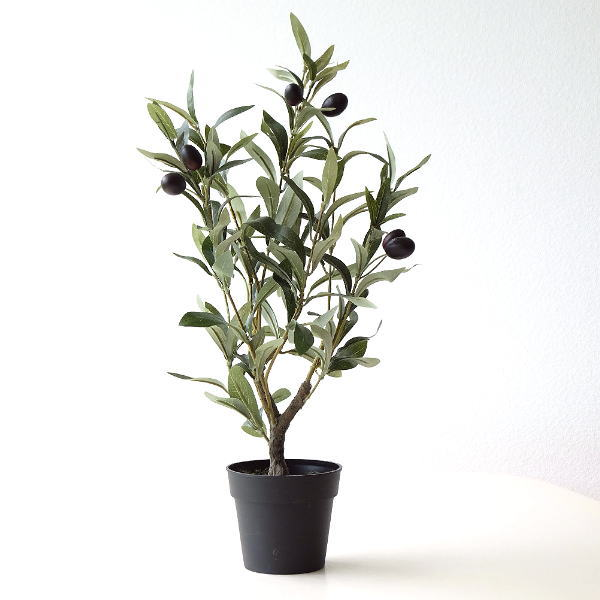 フェイクグリーン おしゃれ オリーブ 鉢植え 造花 観葉植物 ディスプレイ ナチュラル 玄関 リビング フェイクグリーン オリーブの木 S [spc2563]
