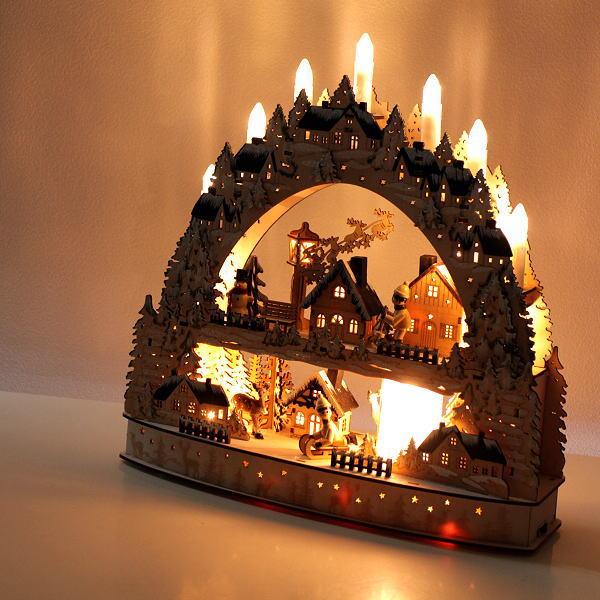 クリスマス LED ライト オブジェ 置物 飾り 音楽 おしゃれ 卓上 デコレーション 雑貨 【送料無料】 LEDメロディーウッドオブジェ [spc3425]