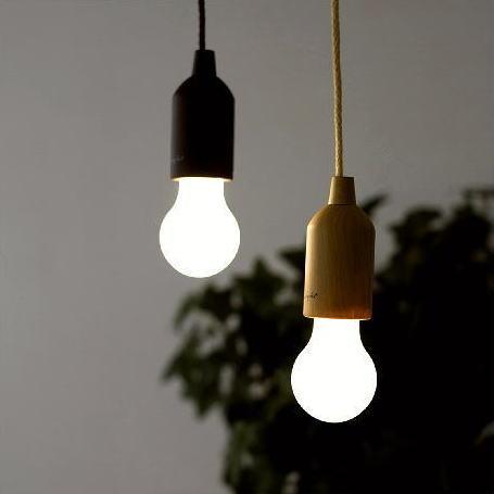 LEDランプ コンセント不要 天井照明 LEDライト 電球 吊り下げ おしゃれ ロープランプ 2カラー [spc4142]