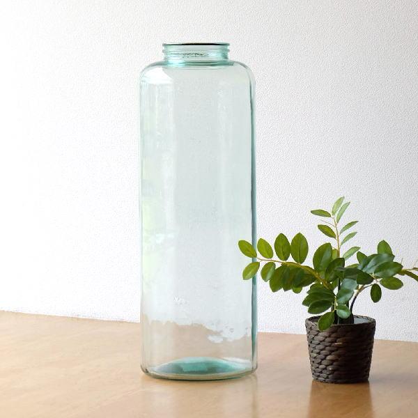 フラワーベース ガラス 大きい 大型 花瓶 おしゃれ 花器 透明 クリア シンプル スペイン製 大きなガラスベース 【送料無料】 [spc4911]