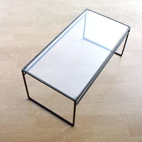棚 シェルフ アイアン ガラス 飾り棚 ディスプレイラック 机上ラック 卓上棚 卓上ラック おしゃれ 小物置き アイアンとガラスのシンプル棚 L [spc5262]
