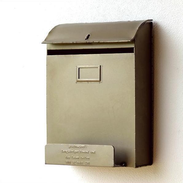 郵便ポスト 壁掛け おしゃれ アンティーク 郵便受け レトロ シャビーなブリキのポスト [spc5562]