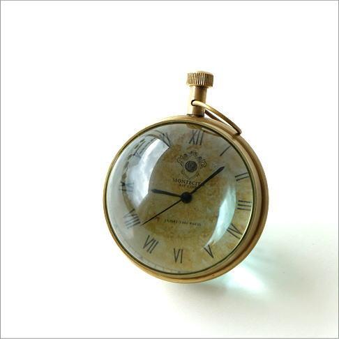 置時計 アンティーク レトロ おしゃれ スタンドクロック クラシック インテリア ヴィンテージ アナログ ローマ数字 ノルマンディーボールクロック