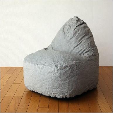 【セール】クッションソファー ソファ かわいい 防水加工 座椅子 ローソファー ポップソファー グレイ【送料無料】