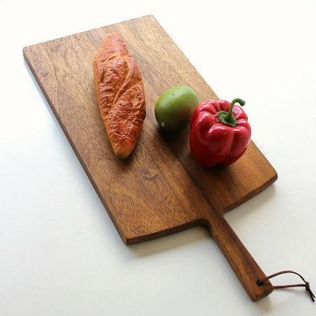 カッティングボード 木製 まな板 パン おしゃれ 天然木 上質 アカシア 大きなカッティングボード 四角 [spc6586]