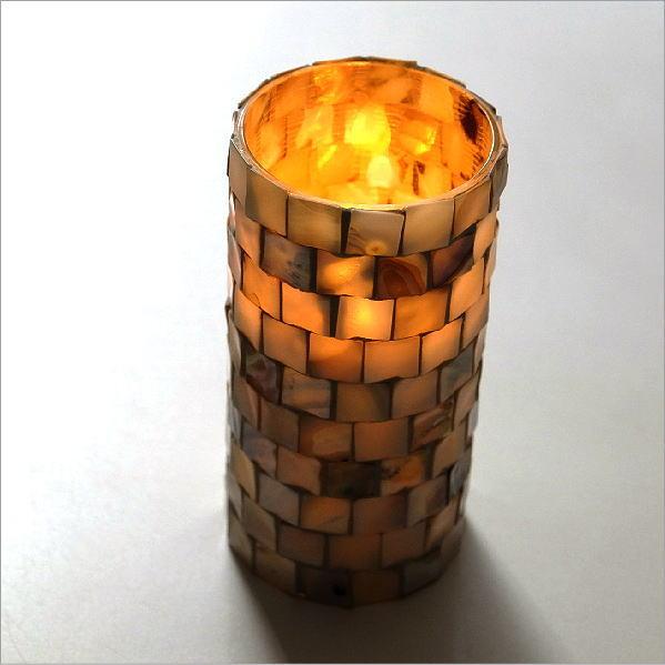 LEDキャンドル ゆらぎ おしゃれ ナチュラル シェル LEDライト インテリア 照明 息で消える シェルLEDキャンドルライトL [spc6915]