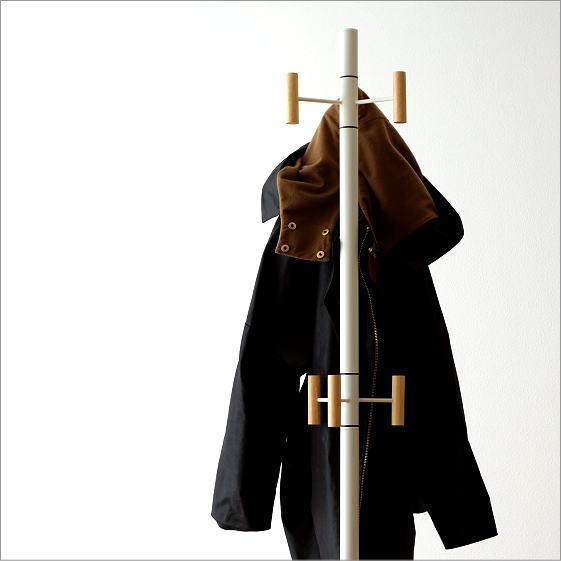 コートスタンド ポールハンガー おしゃれ 木製 スリム コートハンガー コート掛け コートフック 帽子掛け 洋服掛け リビング 玄関 シンプルコートスタンド【送料無料】