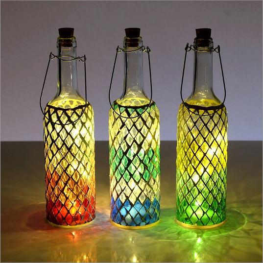 LEDモザイクボトル ダイヤ3カラー