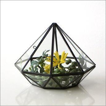 テラリウム ガラス 小物入れ アイアン 観葉植物 多肉植物 サボテン 観賞 ディ スプレイ かわいい インテリア 小さなガラスのテラリウム