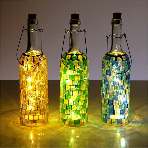 LEDモザイクボトル ブロック3カラー