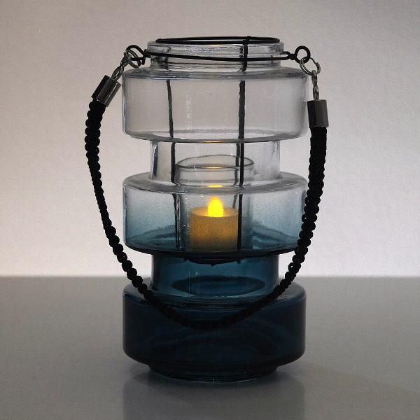 キャンドルホルダー ガラス 花瓶 おしゃれ フラワーベース コンケープLEDキャンドル&ガラスベース [spc9278]