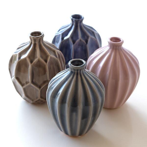 花瓶 おしゃれ 一輪挿し 陶器 フラワーベース 花器 モダン ブロステセラミックベースL 4カラー [ste6876]